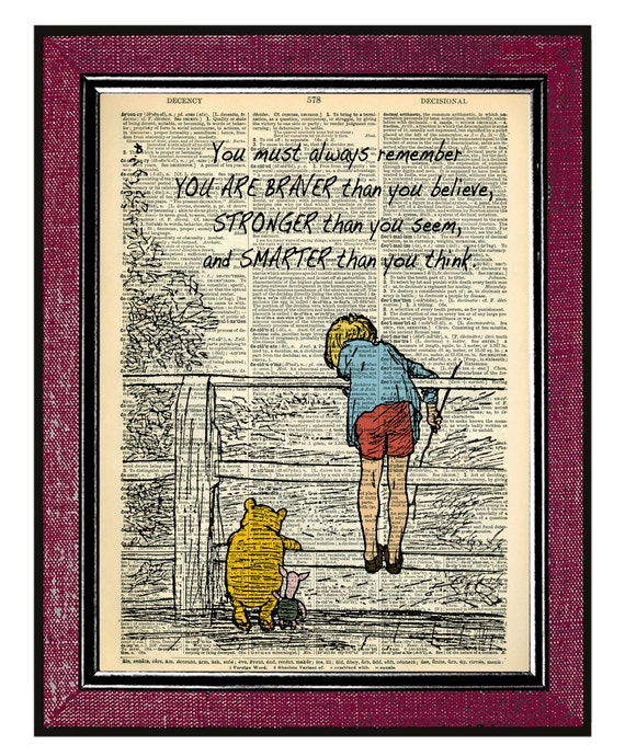 The POOH 2 Home Decor Book Art Wall Hanging Wall Decor Dictionary Art