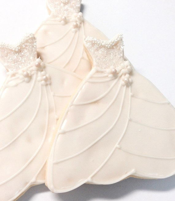 Wedding Dress Cookie Iced Decorated Sugar By