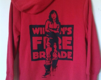 Wimmen's fire brigade,Direct  Action Political Women's Feminist Hoodie/sweatshirt occupy size XS