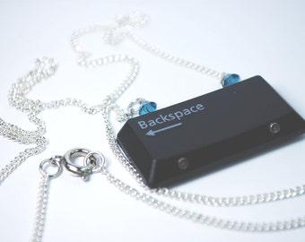 Keyboard Necklace - Backspace Key