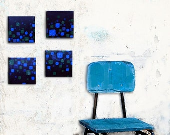 "Original Painting set - ""Pop Culture""- modern art, abstract art, 4 piece set"