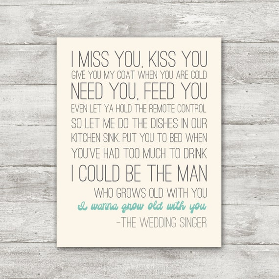 I Want To Grow Old With You Love Quotes: Aqua Blue I Wanna Grow Old With You By SimplySweetDesigns13