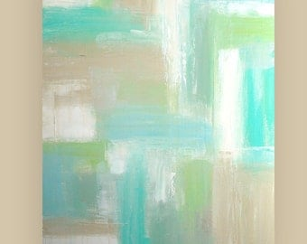 "Art Painting Acrylic Abstract on Canvas Original Art Titled: EXHALE 5 30x40x1.5"" by Ora Birenbaum"