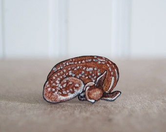 Fawn Ring, Shrink Plastic Ring, Sleeping Fawn, Baby Deer, Woodland, Lightweight Ring, Wearable Art
