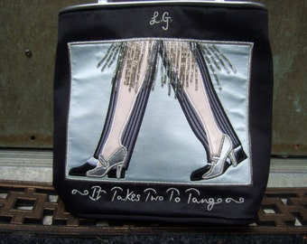 LULU GUINNESS London Tango Dancers Handbag