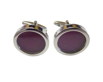 Dark Purple Colored Classic Cufflinks