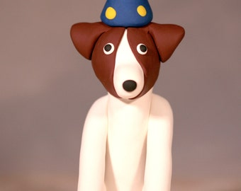 Jack Russell Terrier Dog Birthday Cake Topper