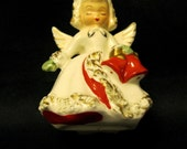 "1950s 'Ermine Angel"" Christmas Candlestick, Holt Howard"