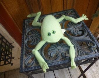 Handmade Stuffed Frog