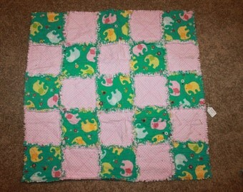 Pink Elephant Quilt