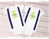 Personalized Twin Boys Matching 1st Birthday Outfits....Cake Smash Outfit....Brothers Matching Birthday Outfit