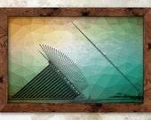 Colorful Calatrava - Milwaukee Print