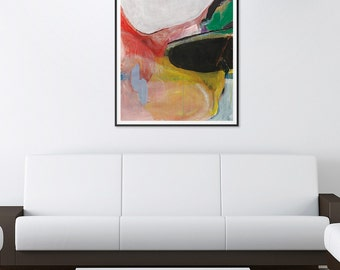 "Abstract painting landscape painting original painting  31.5"" x 21.7"" free shipping ""The truth"""