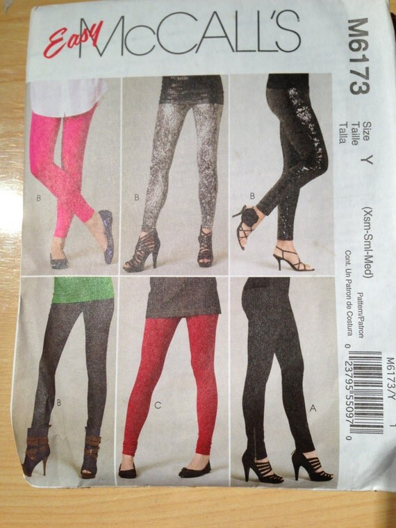 McCalls Sewing Pattern 6173 Misses and Miss Petite Pants and Leggings Size Xs, S, M