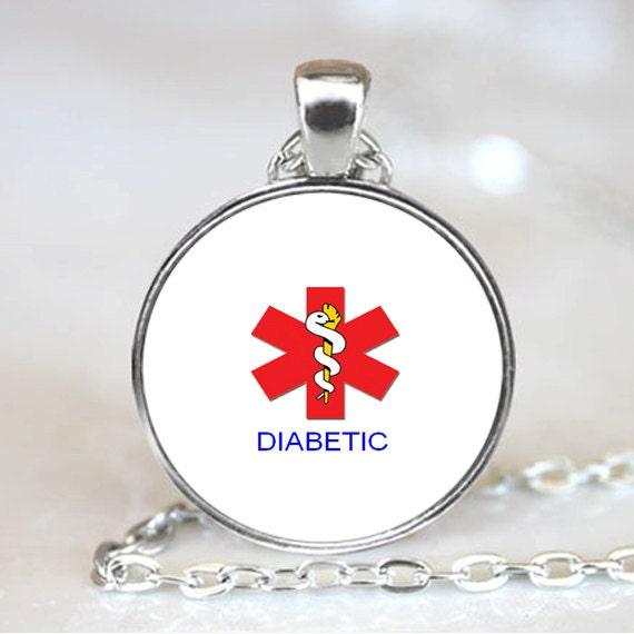 Medic Alert Necklace: Diabetic Pendant Diabetic Necklace Medical Alert Diabetic
