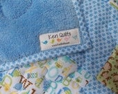 Baby Boy Quilt - Blue - Crib Bedding - Patchwork - Owls - Monkeys - Bear - Alphabet - Handmade Quilt by Keri Quilts