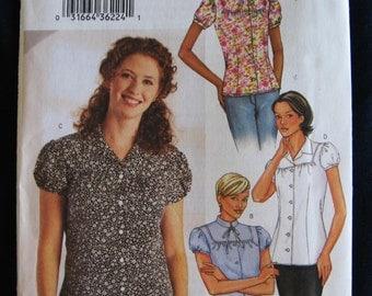 Butterick Misses Blouse Shirt Top Sewing Pattern 3766 Size 12 14 16  UC Uncut FF