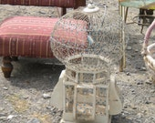 Sale....Spectacular Large Intricate Vintage Made in Africa Bird Cage, Eclectic Decor, Wedding, French Country