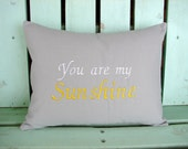12x16 you are my sunshine embroidered pillow- baby gift-nursery pillow-decorative cover-gifts under 35-throw pillow-accent pillow