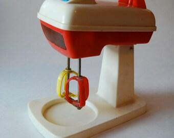 Vintage Child's Toy Mixer, Plastic Fantastic, Lights Up ON SALE!