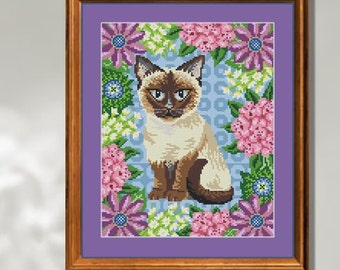 Summer Fifi Kitten Cross Stitch Picture Kit