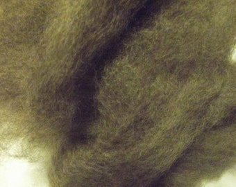 Excellent Felting Fiber  Romney Roving Grey 8oz