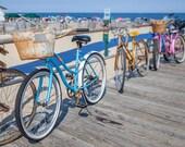 Boardwalk Bikes Photograph - Beach Bikes, Jersey Shore - 8x10 fine art photograph