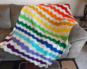 Rainbow Chevron Blanket