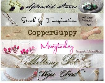 Custom Etsy Shop Banner and Avatar Package Set OOAK - (Or Facebook Timeline Banner-Blog Header-Web Banner) cover banner