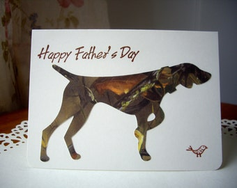 happy father's day card, father's day card, dog card, pointer card, hunting dog card, german shorthaired pointer card, pointing dog card