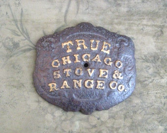 Antique wood stove name plate