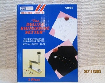 "Westrim Crafts ""The Deluxe Rhinestone Setter"" Sets All Sizes 16-34"