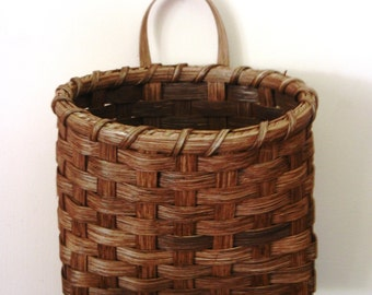 Hanging Mail Basket - Red Chestnut Finish