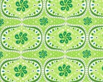 Folklore Darley Ogee Celery by Lily Ashbury - Moda Fabric - 1 Yard