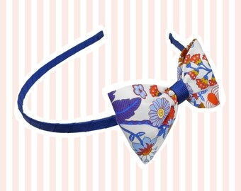 Liberty Print Bow Hairband by Tinker & Belle