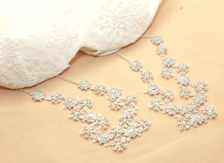 Bridal Wedding Bra Strap Halter Jewelry Ab Crystal By