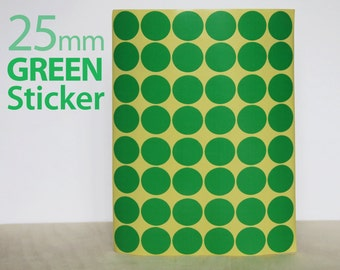 Set 624, Green Circle sticker 25mm