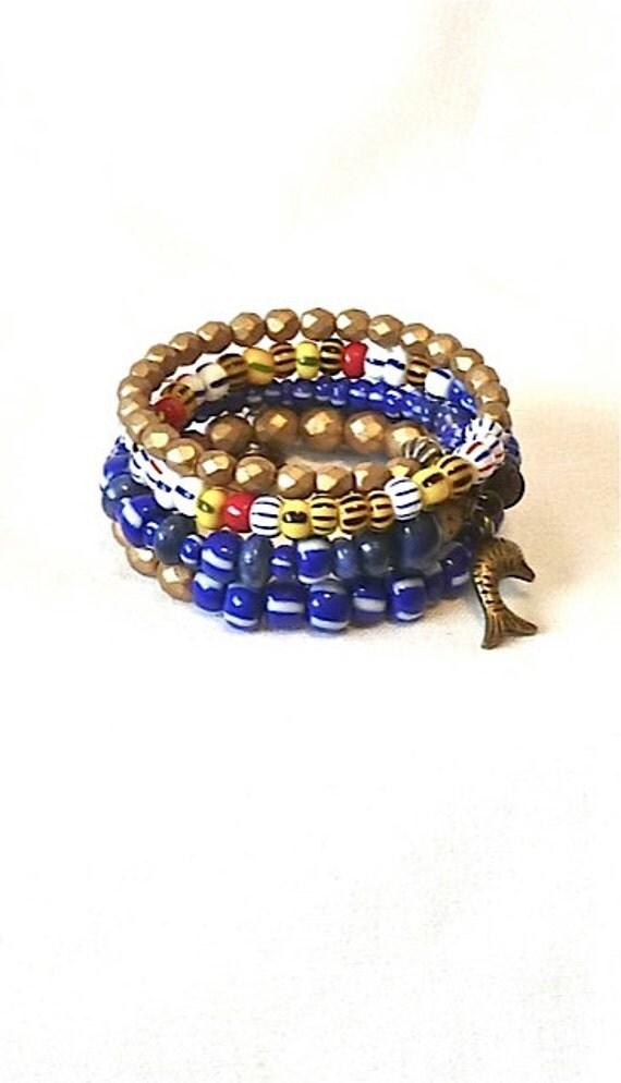 boho stacked bracelet summer beaded bracelet tribal