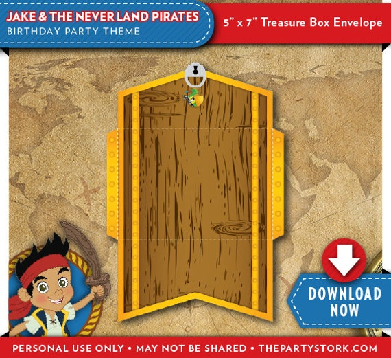 Jake And The Neverland Pirates Treasure Chest Envelope