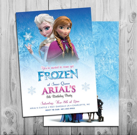 Frozen Invites Frozen Party Invitations Girl Birthday Invites