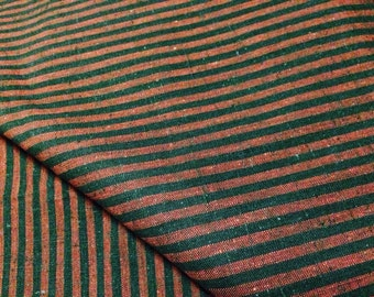 Vintage Red snd Black Striped Cotton Fabric 38 Inch Width