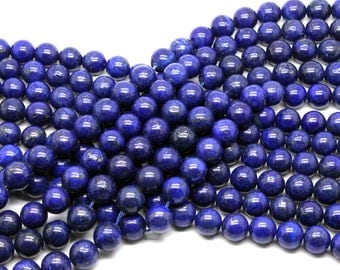 "GUB-0252-4 - Round Lapis Lazuli Beads - 10mm - Natural Gemstone Beads - 16"" Strand"