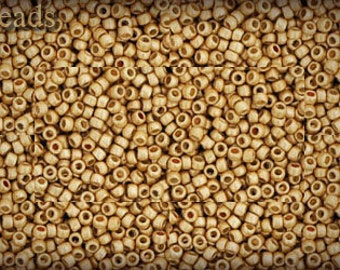 15/0 TOHO seed beads 10g Toho beads 15/0 seed beads Permanent Finish Gold 15-PF557F Opaque Frosted Matte beads