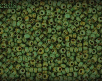 11/0 TOHO seed beads 10g Toho beads 11/0 seed beads HYBRID Turquoise Picasso 11-Y307 last