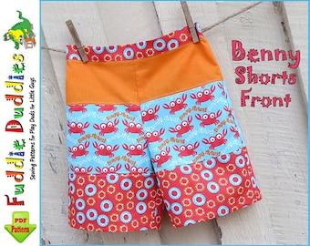 Benny  Boy's Shorts pattern, Toddler Shorts pattern,  Beach Shorts pdf sewing pattern. Boy's Sewing pattern. Boy's Pants pdf Sewing Pattern.
