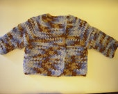 SALE*** Long Sleeve Baby Sweater by Angel Kisses  3-6M Teddy Bear Blue
