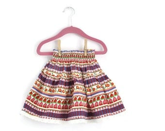 Girls Skirt, Girls Vintage Skirt, Girls Spring Skirt, Little Girls Skirt, Toddler Skirt