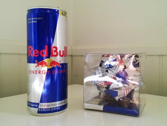 red bull energy trinken origami ornament upcycled. Black Bedroom Furniture Sets. Home Design Ideas