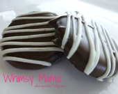 "2 Dozen Peppermint ""Zebras"" -  Rich Dark Chocolate and Mint Confections"