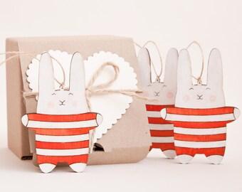 Christmas Decor Candy Canes Ornaments Holiday Decoration Bunny Tree Toys Rabbit Xmas Decoration Grandma Gift